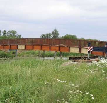 Holzbrücke über die Hunte